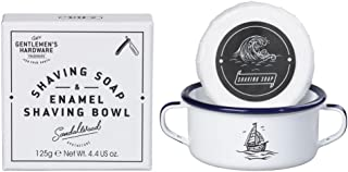 Gentlemen's Hardware Apothecary Shaving Soap and Enamel Bowl