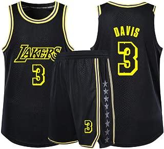 Anthony Davis # 3 Camiseta De Baloncesto De Los Hombres De Los Angeles Lakers Malla Alero Jersey Sin Mangas del Chaleco Top Sport Yellow-XS