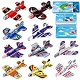 Unomor Valentines Day Cards for Kids - 30 Pack Foam Airplanes with 10 Different Design and 30 Pack Valentines Card Boxes (3 Design) for Valentine Classroom Exchange Party Favors