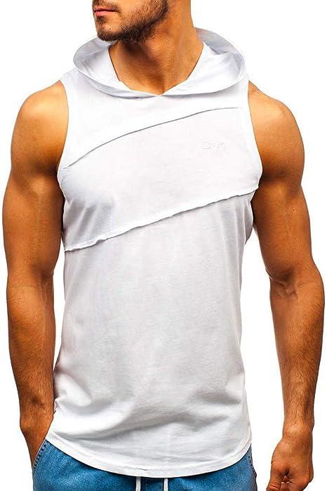 OPAKY Camiseta de Tirantes Deporte Hombre Hombres Chaqueta ...