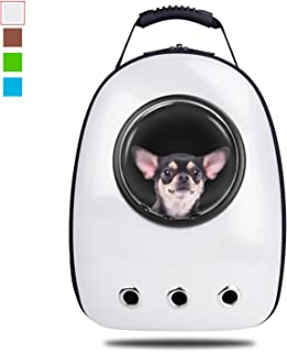 Blitzwolf Pet Portable Carrier Space Capsule Backpack, Pet Bubble Traveler Knapsack Multiple Air Vents Waterproof Lightweight Handbag for Cats Small Dogs & Petite Animals