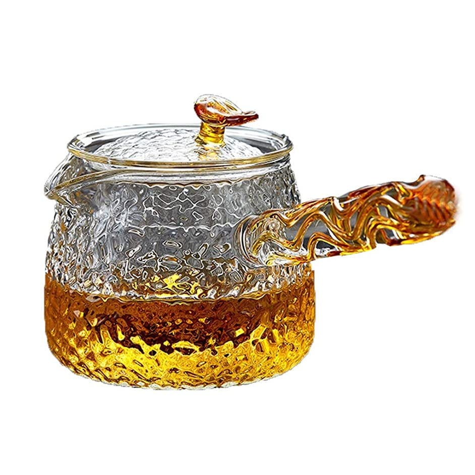 Teapots Coffee Servers Teapot Home Anti-scaling Filter Glass Teapot High Temperature Resistant To Withstand Instant Temperature Difference Glass Teapot (Color : Clear, Size : 400ml)