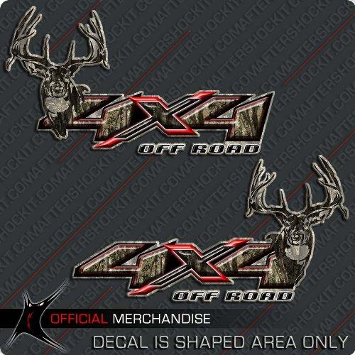4x4 Deer Hunting Camo Decal Silverado Archery Truck Sticker