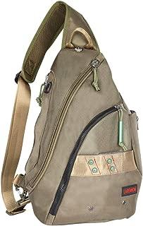 Larswon Sling Backpack, Sling Bag for Tablet, Crossbody Bag for Men, Shoulder Bag for Women, Tablet Bag, Backpack Army Green