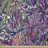ABAKUHAUS Blumen Stoff als Meterware, Tropischer