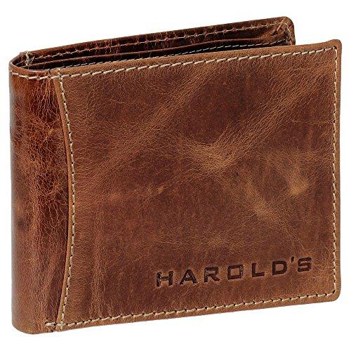 HAROLD'S Herren Geldbörse Portemonnaie Geldbeutel Rindleder