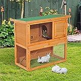 Zoom IMG-1 pawhut gabbia per conigli conigliera