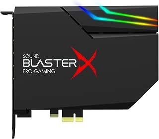 Sound BlasterX AE-5 高分辨率 PCIe 游戏声卡,DAC/耳机灯(*高 600 欧姆)带 RGB-LED 灯条适用于电脑/游戏电脑