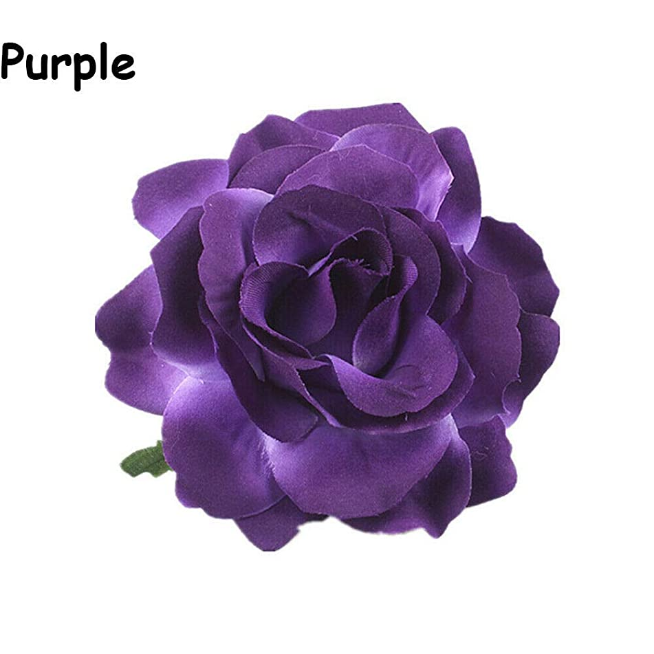 Brooch Bridesmaids Headwear Rose Flower Bridal Headdress Wedding Supplies (Color - purple)