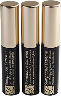 Estee Lauder Sumptuous Extreme Lash Multiplying Volume Mascara - # 01 Extreme Black Mini Size .1 oz / 2.6ml x 3 pcs