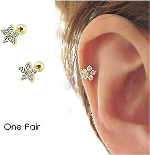 3PCS CZ Celestial Cartilage Helix Earring Stud Helix Piercing Conch Auricle Earring Lobe Piercing Cartilage Piercing Tragus