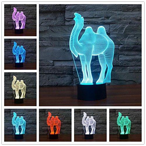 3D USB LED Schreibtisch Tisch Tamp Cartoon Big Wild Tier Kopf Tier Haustier Pferd Kreative Heimtextilien Kinder Kinder Spielzeug Geschenk Nachtlicht