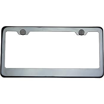 Neo Chrome Steel License Plate Frames US CA Front /& Rear Braket 2pc For Peugeot