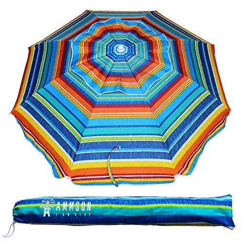 AMMSUN Outdoor Beach Umbrella with Carry Bag