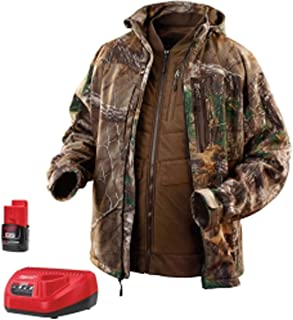 Milwaukee 2387 M12 12V Cordless Realtree Xtra Camo 3-in-1 Heated Jacket Kit (Battery and Charger included) Size XLarge