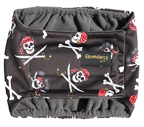 Glenndarcy Couches de Chien mâle - Incontinence urinaire - (Small Band Only, Pirates)