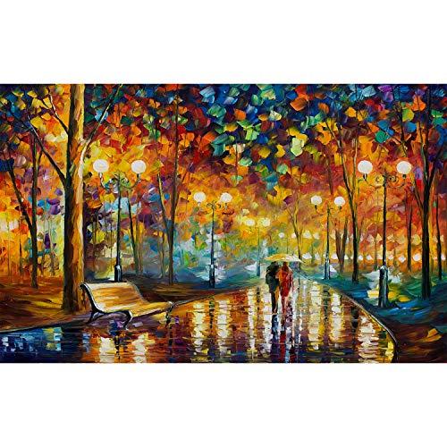 Aiboria Walking In The Rain Puzzles 1000 Stück, für Kinder Erwachsene Lustige Bunte Coole Puzzle Weihnachtspuzzle von Brain Teasers Lernspiel Spielzeug Familie Freundin Geburtstagsgeschenke