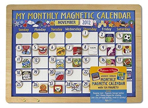 MaMeMi Mon Calendrier magnétique mensuel (en Anglais Seulement) [Jouet]
