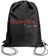 Resident-Evil-1996- Drawstring Backpack Adjustable Gym Sack Bag
