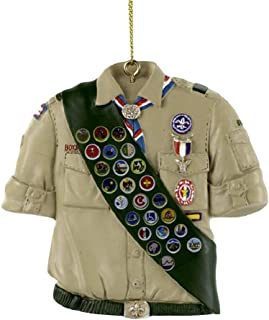 Kurt Adler Boy Scouts Of America Shirt With Sash Ornament