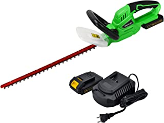 hyperpower 20V Cordless Hedge Trimmer with 2.0A Platform Battery and Charger Werktough Electric Garden Yard Trimmer HT001