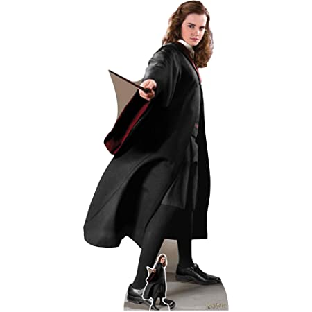 US-Way e.K. Expositor de cartón Hermione Granger aprox. 170 cm, figura de pie para cine, figura de cartón, tamaño real