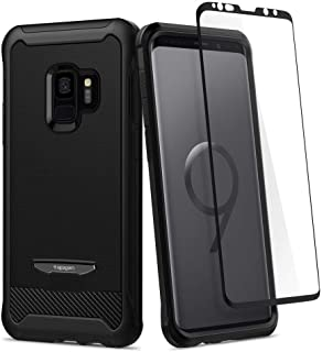 Spigen Samsung Galaxy S9 Reventon case/cover - Black - Full 360 protection with Glas.tR Curved Glass Screen Protector