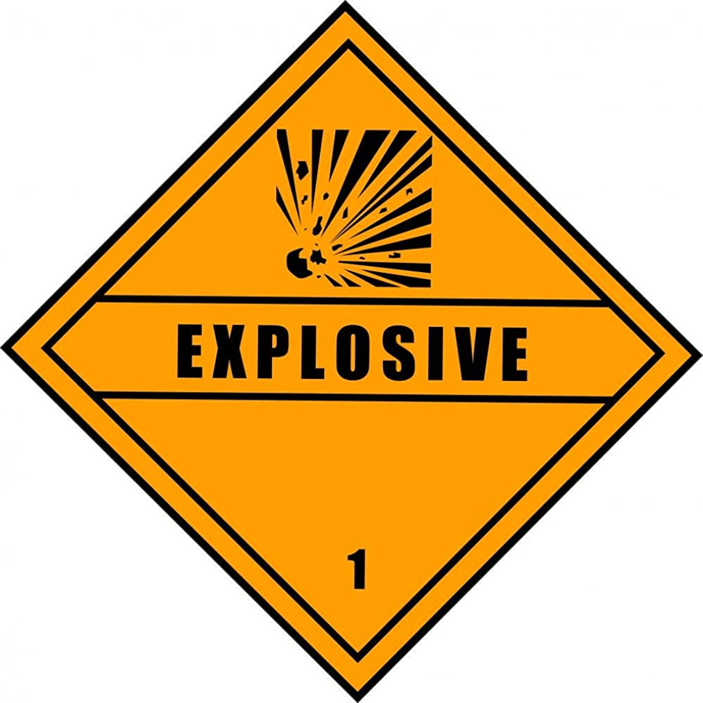 Wallmonkeys WM185677 Chemical Sign-Dangerous Explosive Diamond Peel and Stick Wall Decals H x 30 in W, 30