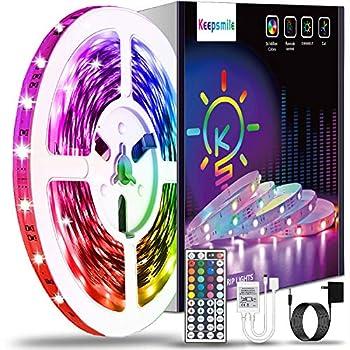 40ft Led Strip Lights Keepsmile RGB Color Changing Led Light Strips SMD 5050 LED Strips with Remote Led Lights for Bedroom Kitchen Home Decoration