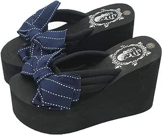 Womens Chunky High Platform Wedge Flip-Flops Sandals
