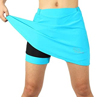 Bike Skirt Women with Padding, Bike Shorts with Underwear 3D Gel Padded, Breathable Quick Dry Cycling Short Skort
