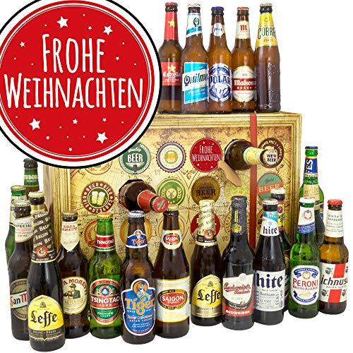 Frohe Weihnachten/Adventskalender Bier/Bier Set Biere aus aller Welt