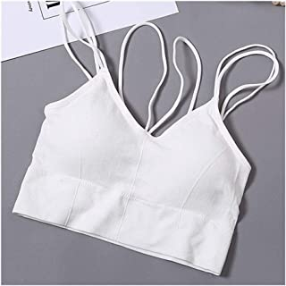ZCHWU Women Crop Top Seamless Underwear Female Crop Tops Lingerie Intimates With Removable Padded Camisole Fashion Beautif...