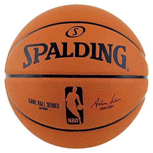 Spalding Palla da Basket NBA Gameball Rep.sz.7,(73-361Z), Arancione (Orange/Schwarz), 7