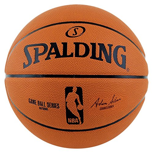 Spalding Palla da Basket NBA Gameball Rep.sz.7,(73-361Z), Arancione (Orange/Schwarz), 7