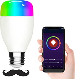 Sunfuny Smart WiFi LED Bulb Dimmable RGBW Light,Compatible with Alexa, Google Assistant and IFTTT, No Hub Required Night L...