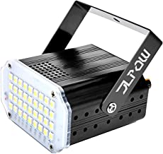 JLPOW Halloween White Strobe Light,Super Bright 36 Leds Flash Stage Lighting,Sound Activated and Speed Control Mini Strobe Lights,Best for DJ Party Club Disco KTV Bar Xmas Show