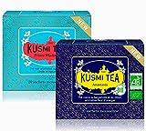 Kusmi Tea - Anastasia & Prince Vladimir Bio - Té negro orgánico - Juego de 2 cajas - 2x20 bolsas de té - Aproximadamente 40 tazas
