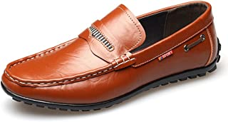 [QIFENGDIANZI] ドライビングシューズ メンズ 全5色 おしゃれ 紳士靴 スリッポン 快適 ソフト コンフォート ホワイト ブラウン ワインレッド イエロー ブラック 24.0cm-27.0cm