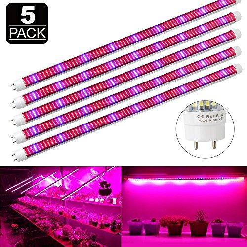 Derlight [Confezione da 5] 0.5m 10W Grow Light Bar con 36pcs 5050SMD LED DC 12V di Alluminio per Interni Giardino Serra pianta idroponica Sistema