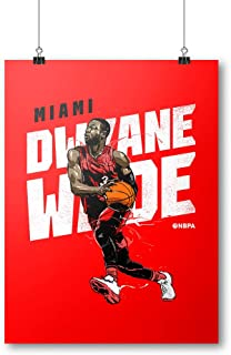 500 LEVEL Dwyane Wade Miami Basketball Wall Poster - Dwyane Wade Drive