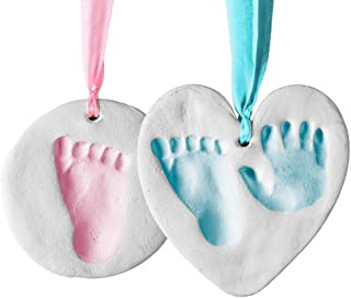 Baby Handprint and Footprint Kit Ornament Makers for Baby Girl Gifts & Baby Boy Gifts, Unique Baby Shower Gifts, Memory Ar...