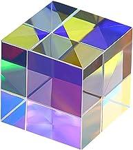 YTXTT Prisma de cubo quadrado, vidro óptico RGB dispersão prisma de luz física, modelo educativo de espectro para fotograf...