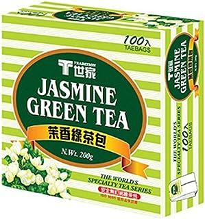 《T世家》 茉香綠茶包 (100入/盒)(ジャスミングリーンティー) 《台湾 お土産》 [並行輸入品]