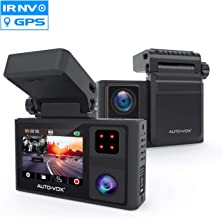 AUTO VOX Dual Dash Cam Front and Inside 1920x1080P,Infrared Night Vision,Integrated Design of Built-in GPS with Magnetic Bracket in Car Dashboard Camera, 24Hours Parking Mode,Sony Sensor by Aurora