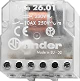 Finder 260182300000PAS Teleruttore per Scatola 230 Vac 1 No 10 A, Trasparente