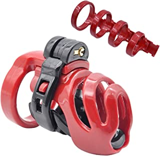 Bantie Adjustable Chastity Cage with 4 Rings, Medical Grade Resin Cock Cage Sex Toy for Men