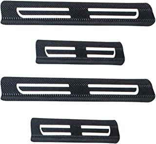 for Ford F450 Ka Escape Ranger Focus 4Pcs/Car/Door/Sill/Protector,/3D/Reflective/Carbon/Fiber/Vinyl/Scuff/Plate/Guards/Protective/Anti-Scratch/Waterproof/Sticker White