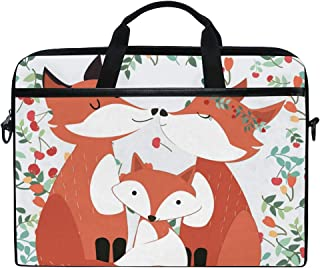 Protable Laptop Case Happiness Fox Family Protective Shoulder Bag Sleeve for 15 Inch Notebook Computer Briefcase Travel