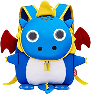 C_EDITION 3D Cartoon Bag with Harness Leash for Kids Cute Animal Backpack with Anti-Lost Safety Leash for Boys Girls (Blue)